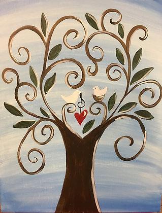 Paint 'n Party @ Apple Barrel: Love Grows...(2/11)