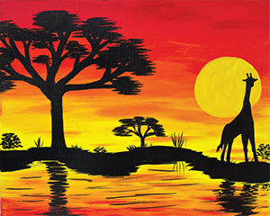 Paint n' Party @ The Studio - African Sunset (5/1)