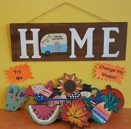 Home or Welcome Board Art with Changeables (9/29)