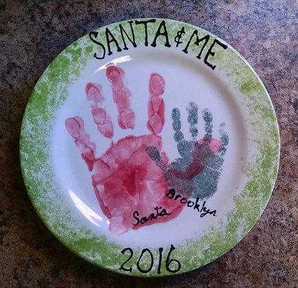 Santa and Me Plate (Pre-Order for 12/11 event)