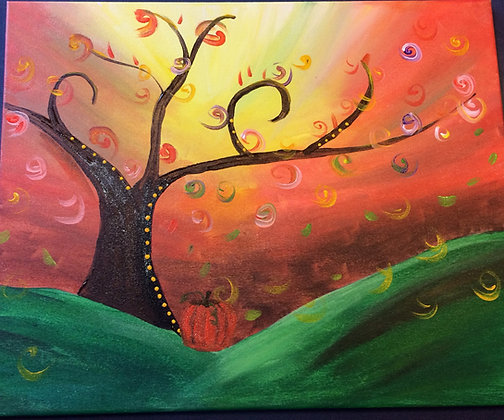 Paint 'n Party @ Coby's - Autumn Tree (11/5)