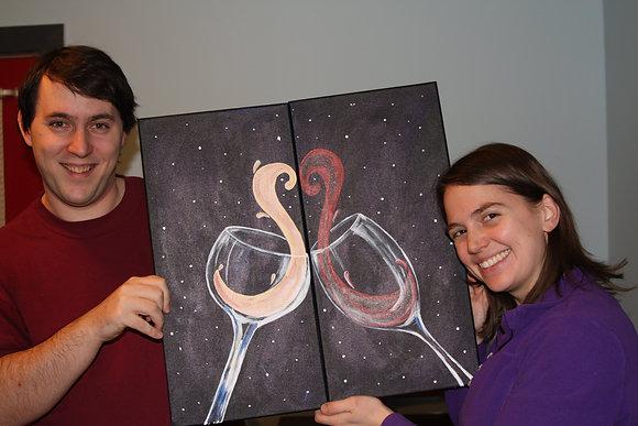 Valentine's Paint 'n Party @ The Studio (2/11)
