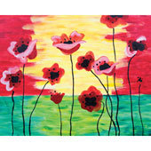 Paint 'n Party @ the Apple Barrel - Poppies (3/18)