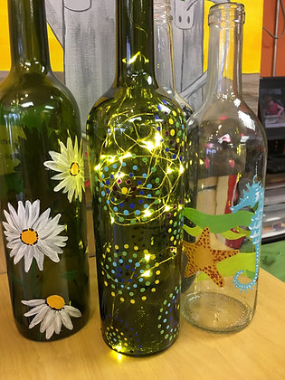 Paint/Etch Wine Bottles at M'burgh Winery (7/13)