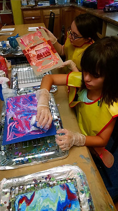 School Break Mini Camp: Acrylic Pour + Rock Painting (4/24)
