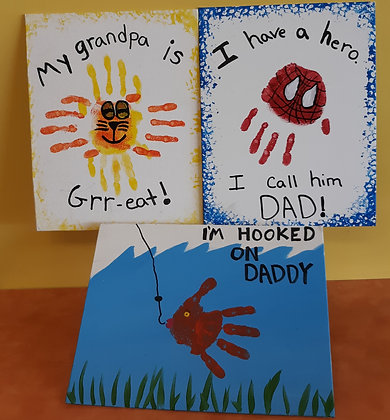 Handprint Canvas for Dad