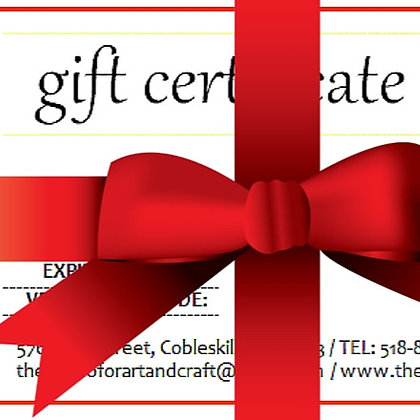 Gift Certificate to The Studio (SCS)