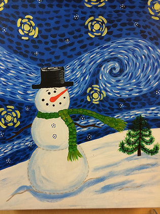 Paint 'n Party in Davenport: Starry Snowman (1/22)