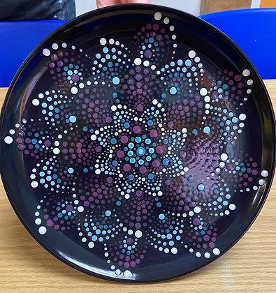 Pinwheel Mandala Plate