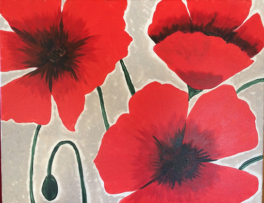 Paint 'n Party @ Bull's Head Inn - Poppies (7/16)