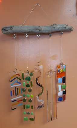 Fused Glass Wind Chimes at Guilderland YMCA (4/24)