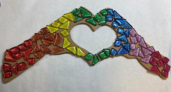 Heart Hands Mosaic Kit