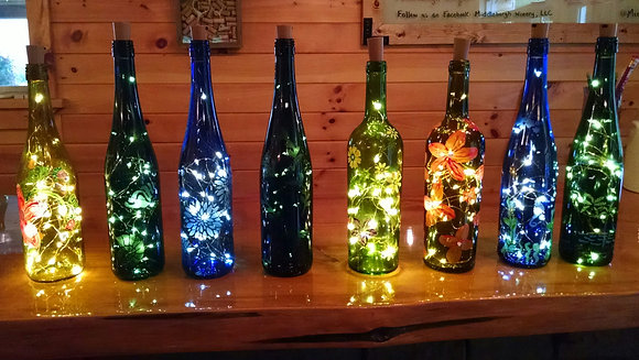 Light-Up Wine Bottle Fundraiser in Richmondville (9/29)
