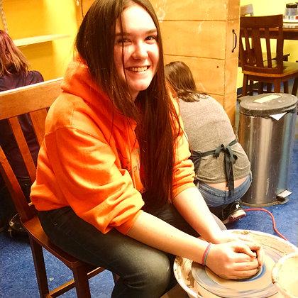 Tween/Teen Pottery Wheel and Clay (starts 9/18)