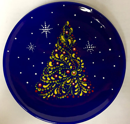 Dot Mandala Holiday Plate (12/15)