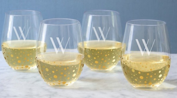 Monogram Wine Glasses at M'burgh Winery (5/9)