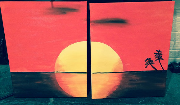 Paint 'n Party@Coby's: Choose Your Sunset (2/4)