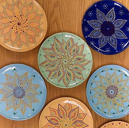 Mandala Sunflower Plate at Oneonta World of Learning (10/5)
