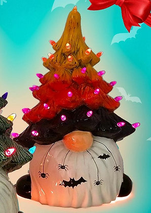 Light Up Halloween Tree Gnome