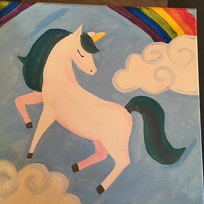 Kids Night Out: Unicorn Canvas (3/22)