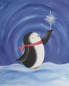 Kids' Paint Party @The Studio: Penguin Wish (1/23)