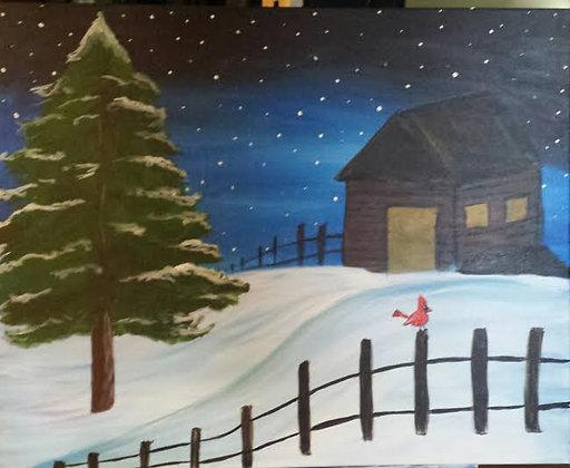 Paint 'n Party @ Apple Barrel - Winter Cabin(1/13)