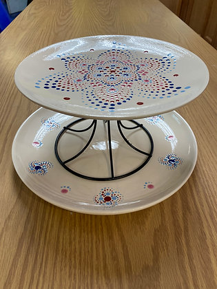 Who Wants Cake? (Dot Mandala Cake Stand or Plate)