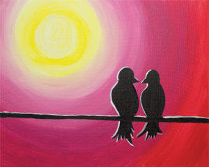 Paint 'n Party @ Apple Barrel - Love Birds (2/10)