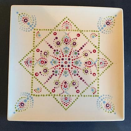 Square Dot Mandala Plate at Oneonta Vet's Club (10/20)
