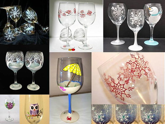 Wine Glass Painting (4/17)