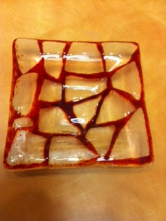 Gift Making Class - Small Fused Glass Dish (11-4)