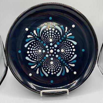 Snow Burst Dot Mandala Plate