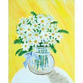 Paint on Canvas - Shasta Daisies (7/12)