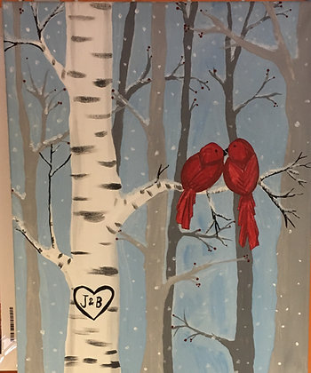 Paint 'n Party @ The Studio: Cardinals (2/26)
