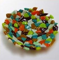 Fused Glass Crazy Bowl (2/29)