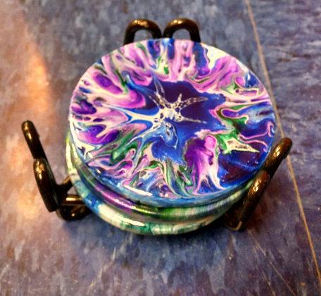 Acrylic Pour Coasters (4/15)