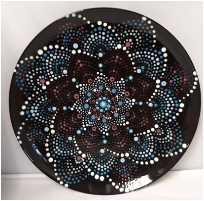 Mandala Starburst Plate at Oneonta Vets Club (6/19)