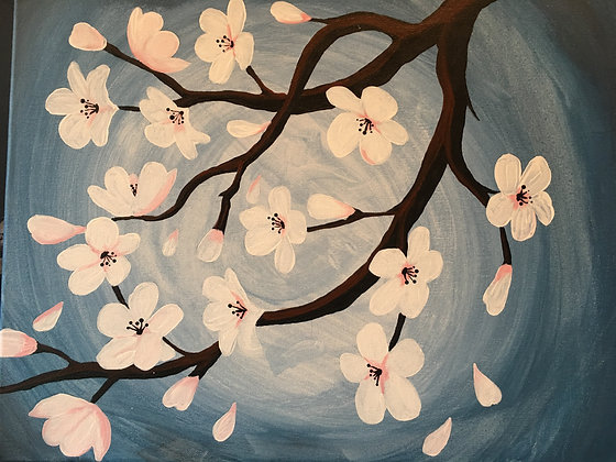 Paint 'n Party @ The Studio: Cherry Blossoms (5/5)