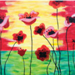 Paint 'n Party @ Coby's - Poppies in Bloom (8/6)