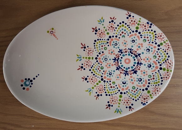 Dot Mandala Oval Plate at Guilderland YMCA (2/28)