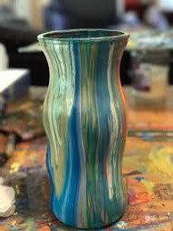 Fluid Art Vase (8/10)