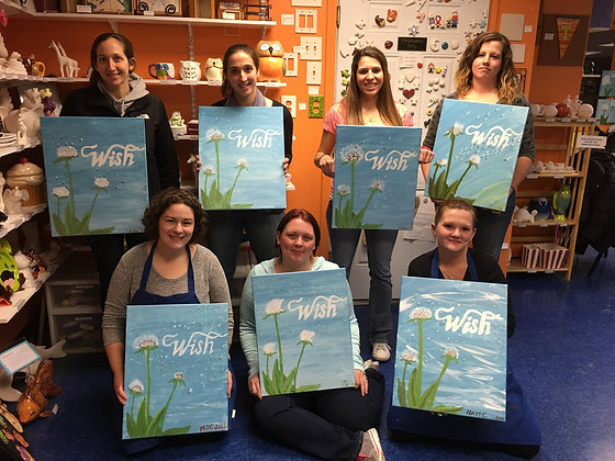 """""""Wish"""" Canvas at Serious Brewing Co. (5/23)"""