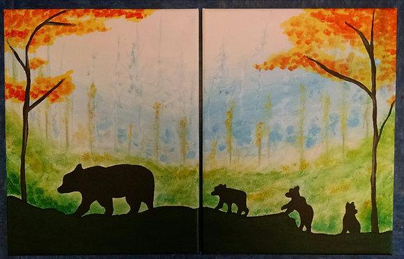 """""""Papa Bear"""" Canvas at Tagua Nut Cafe (6/7)"""