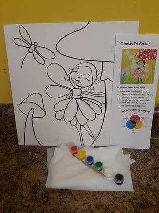 Canvas Painting To Go Kit (Your School)