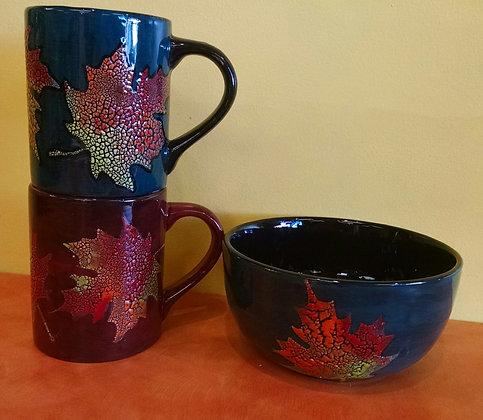 Cobblestone Leaf Mug or Bowl (11/12)