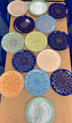 Mandala Sunflower Plate at Duanesburg YMCA (6/12)