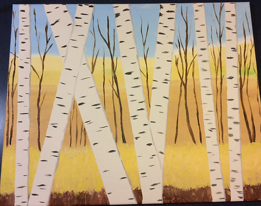 Paint 'n Party @ The Studio - Birch Trees (2/20)