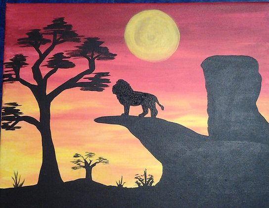 Paint n Party @ The Studio - African Lion (8/4)