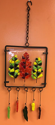Fused Glass Framed Wind Chime (7/7)