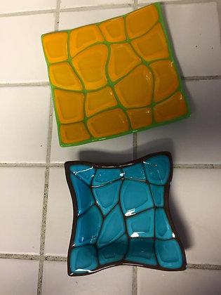 Fused Glass Turtle Dish (8/14)